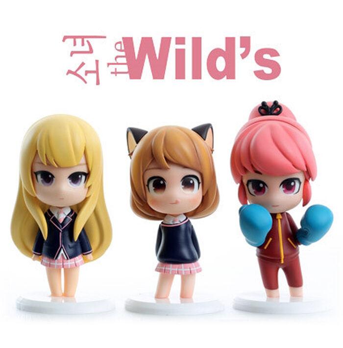 Korea Comic Webtoon Minifigure Girls of the wild's Box Set (last one)