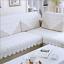 Spitze Stickerei Geely Blume Tischdecke weiße Blume Tischdecke Sofa Handtuch