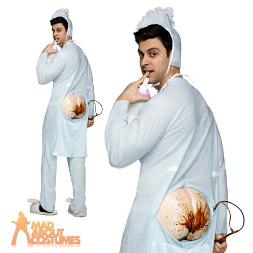 Adult Big Baby Costume Poopie Jammies Mens Stag Fancy Dress Stag Party Outfit