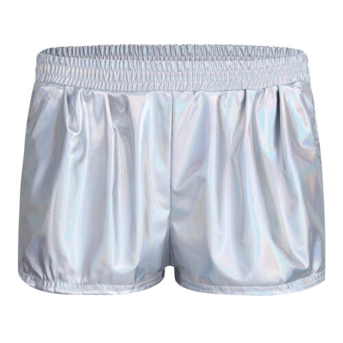 Womens Patent Leather Shiny Shorts High Waisted Hot pants Causal Party Underwear