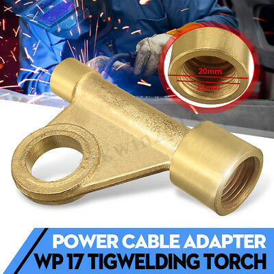 105Z57 Brass Welding Tig Torch Power Cable Adapter WP 17 Weld Gun Parts in US