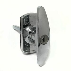 Henderson-Chrome-garage-door-lock-T-bar-handle-short-spigot-long-spindle