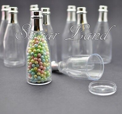 75 Fillable Champagne Bottles Wedding Party Shower Event Favors Candy Clear Gift