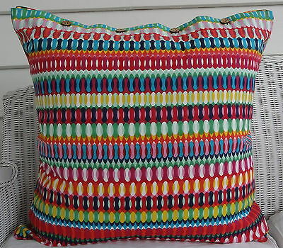 LARGE COTTON MEXICAN LOOK CUSHION COVER 60 x 60cm, DAYBED COUCH FLOOR CUSH COVER