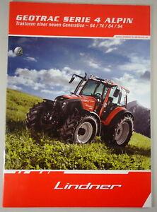 Prospectus/Brochure Lindner Geotrac Series 4 Alpine 64/74/84/94 Was 08/2010