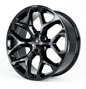 22-034-Black-2018-GMC-Sierra-1500-Yukon-Denali-Wheels-Rims-CK156-Snowflake-Chevy