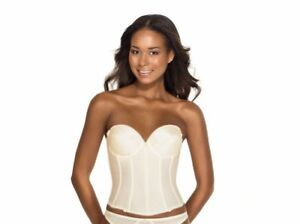 bc18b6ebd49c3 Image is loading Dominique-RACHELLE-Style-7750-Low-Back-Satin-Bustier-