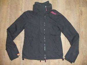 SUPERDRY-Technical-Windcheater-Women-039-s-Black-amp-Pink-Zip-Jacket-Coat-Small-10