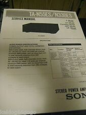 Sony TA-N55ES/N330ES Service Manual(Coil Bound w/ Protective Cover)