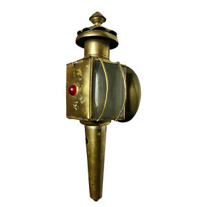 Antique-Traditional-Brass-Carriage-Lantern-Oil-Coach-Light
