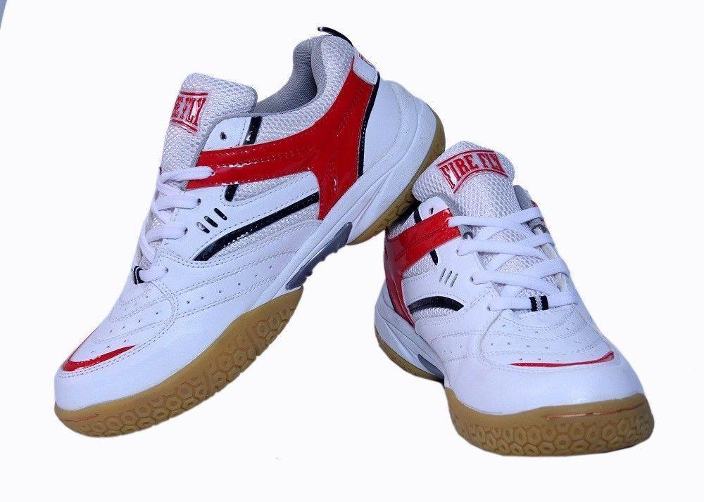 Men's Badminton scarpe FIRE FLY EXCEL bianca rosso Tennis  Outdoor Sports Racquet  è scontato