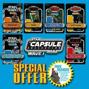 FREE-MANDO-OFFER-Vintage-Kenner-STAR-WARS-Name-Capsule-Wave-I-patch-set-of-6