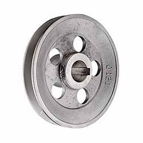 Poulie pour moteur electrique 120 mm entraxe 19 mm