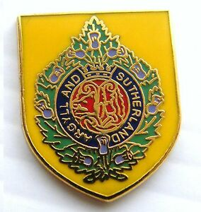 THE-ARGYLL-AND-SUTHERLAND-HIGHLANDERS-ARMY-MILITARY-PIN-LAPEL-BADGE-FREE-POUCH