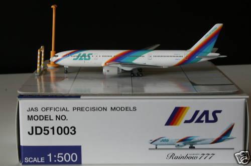 Hogan Herpa Wings 500 JAS Japan Air System B777-200  Rainbow Couleur  NG 1 500