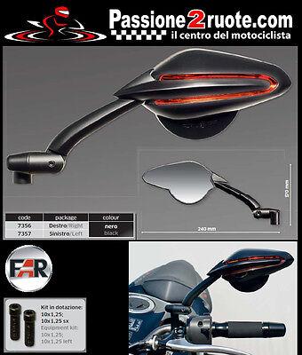 Specchietti Specchi omologati manubrio universali moto Far 7233 7234 Viper 6 1