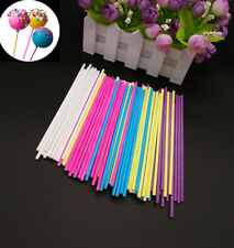 50PC Colorful Cake Sticks Lollipop Sticks Paper Sticks15cm Cookies Chocolate