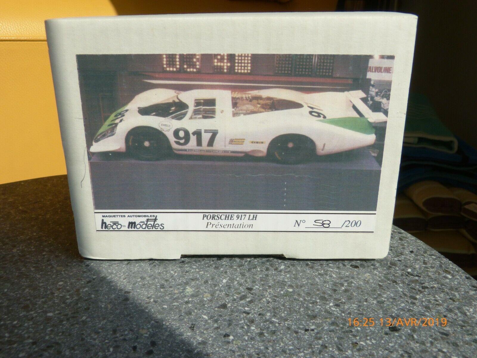 Heco Modeles-Porsche-917 LH-Présentation edition limitee
