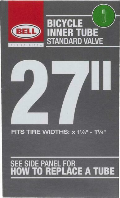 "BELL SPORTS 27/"" Universal Standard Bike Tube Bicycle Tire 1-1//8-1-1//4/"" 7064270"