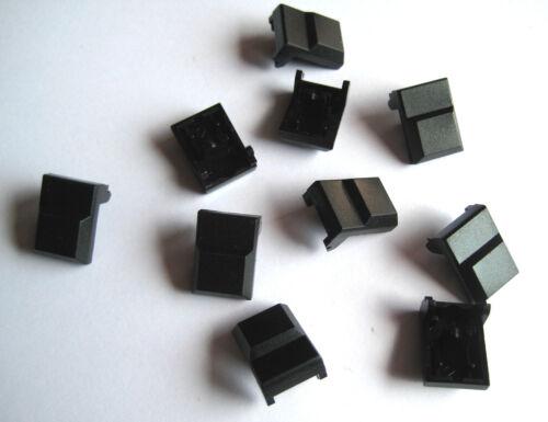 10 trozo de ITT Schadow digitast conmutación tapas sin agujero negro 17,1x12,3mm m7695