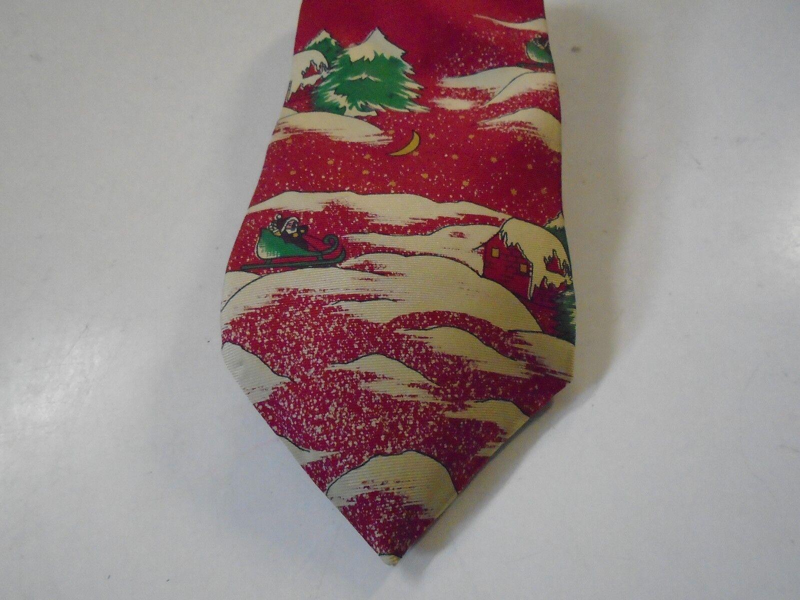 Weihnachten Urlaub Rot Weihnachtsmann Schlitten Krawatte Seide Wembley Rot Abend