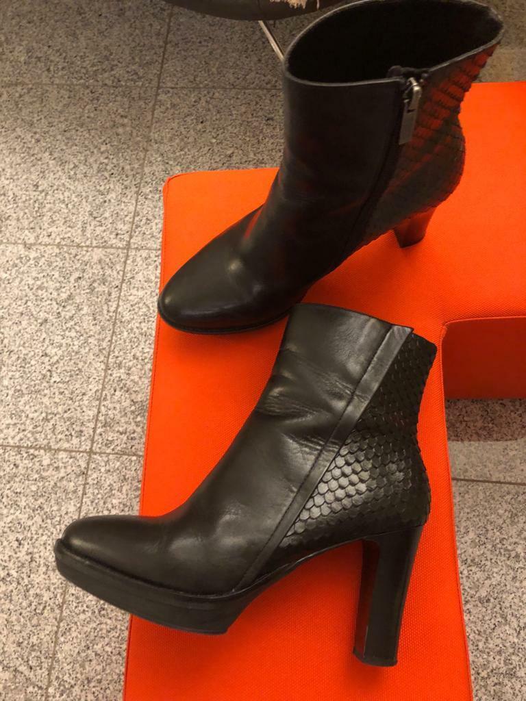 ♥ botines para señora de steffen schraut GR  39; cuero genuino; negro ♥