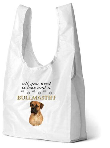 Bullmastiff Dog Printed Design Eco-Friendly Foldable Shopping Bag BULLY-3