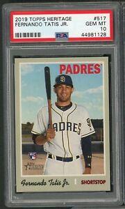Fernando-Tatis-Jr-Padres-2019-Topps-Heritage-Baseball-Rookie-Card-RC-517-PSA-10