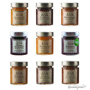 marmelade konfit re extra 85 fruchtanteil 40 g glas mini gourmet auswahl ebay. Black Bedroom Furniture Sets. Home Design Ideas