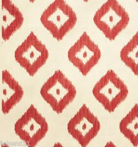 Coral Pattern Fabric quadrille china seas ikat linen print fabric bali diamond coral on