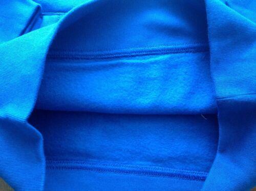 NWT GAP KIDS CAMPUS LOGO SWEATSHIRTS HOODIE FLEECE SMALL BRILLIANT BLUE 6-7