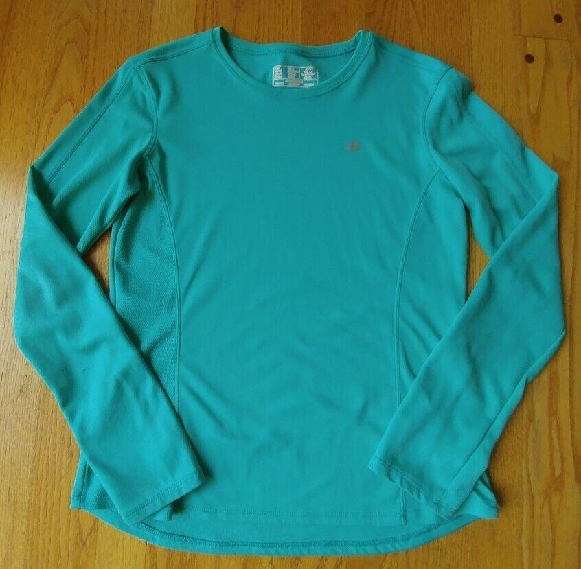 New Balance Womens Small Mint Green Long Sleeve Athletic Workout Shirt VGUC