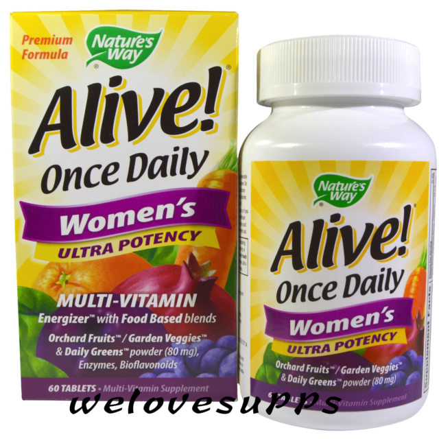 Nature's Way, Alive! Women's Multi-Vitamin, Ultra Potency - 60 Tablets