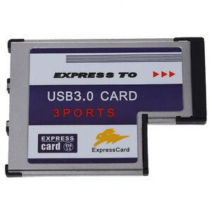 3-Port-USB-3-0-ExpressCard-54mm-PCMCIA-Express-Card-fuer-Notebook-B7F5