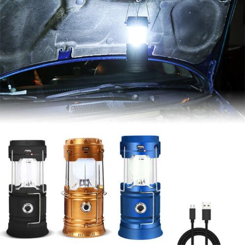 USB Solar 85000LM LED Light Rechargeable Flashlight Lantern Camping Lamp