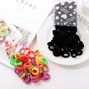 100-Women-Girl-Scrunchie-Hair-Band-Rope-Elastic-Tie-Ponytail-Holder-Ring-Fashion