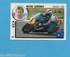 SUPERSPORT 1988-PANINI 88-Figurina n.47- GARDNER-AUSTRALIA-MOTOCICLISMO  -Rec