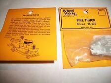 Wheel Works Vehicles N Scale Vintage Fire Truck White Metal Casting Kit BTTG