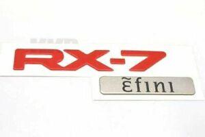 MAZDA RX-7 FD3S  Efini Genuine Rear Badge Emblem RARE ITEM  JDM