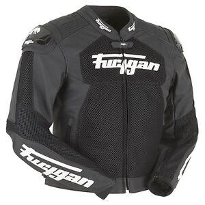 Furygan-VITESSE-treillis-noir-Ventile-ete-cool-CUIR-MOTO-VESTE-DE-SPORT