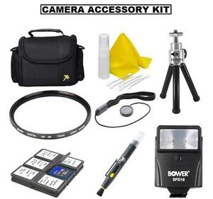 Accessory Kit (Bag Flash Tripod +) For Nikon D5600 D3400 w/ AF-P DX 18-55mm Lens