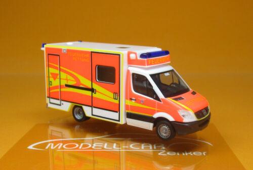 Herpa 094214 MB Sprinter 06 RTW Fahrtec Feuerwehr Ingolstadt Scale 1 87