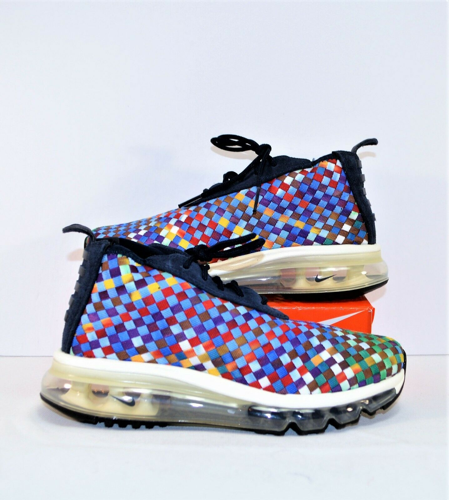 Nike Air Max Woven Boot Multicolor Obsidian Running shoes Sz 4.5 NEW AH8139 400