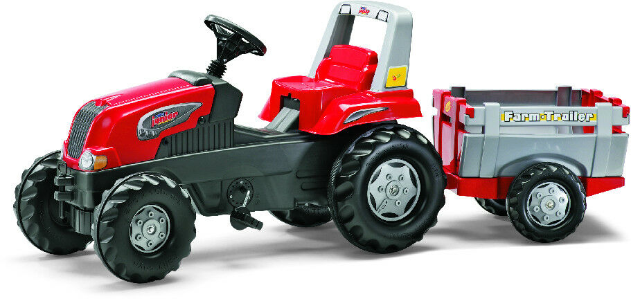 Rolly Toys Trettraktor mit mit mit Anhänger rolly Junior RT rot 494796