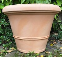 Pflanzkübel Terracotta Kunststoff 60 Cm Frost.+bruchsicher Ohne Dekor Neu