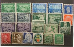 21-X-Timbres-Empire-Allemand-16-Divers-Impeccable