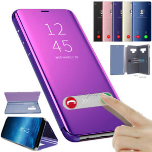 low priced 8a48c 46edb Details about For Samsung Galaxy Note 9 Smart View Mirror Leather Flip Hard  Stand Case Cover