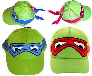 Turtles Childrens Baseball Cap Hat Super Hero Kids Sun Novelty Boys Girls Boys