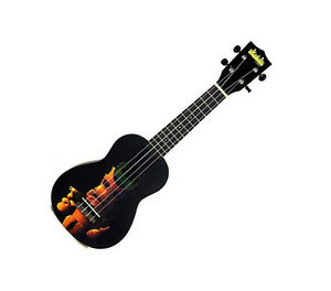 2019 Fashion New Kala Ukadelic Tiki Black Soprano Ukulele Pro Sound Great Look Uke Musical Instruments & Gear Guitars & Basses warranty With The Most Up-To-Date Equipment And Techniques