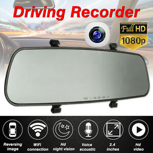 2.4'' Specchietto Retrovisore Interno Telecamere monitor DVR Recorder DashCam